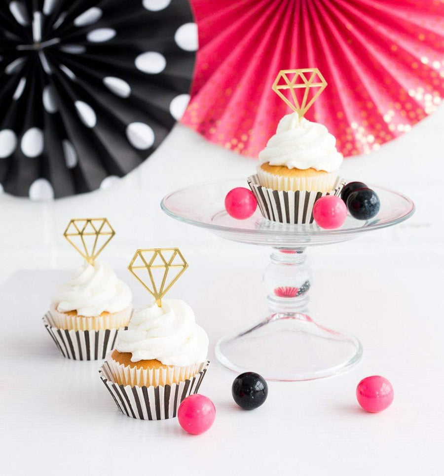 Gold Diamond Toppers Cupcake Kit