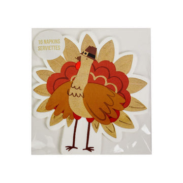Meri Meri Pilgrim Turkey Thanksgiving Napkins