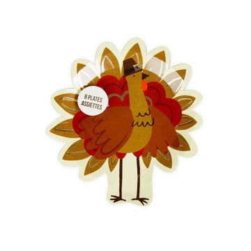 Thanksgiving Turkey Die Cut Plates