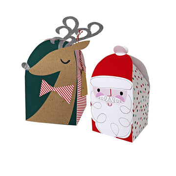Santa and Reindeer Gift Boxes