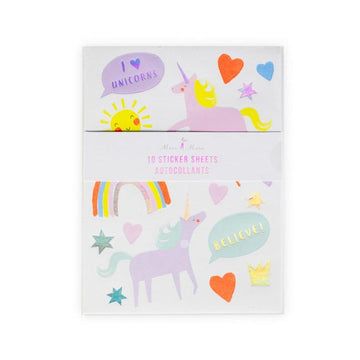 Meri Meri I Heart Unicorn Stickers