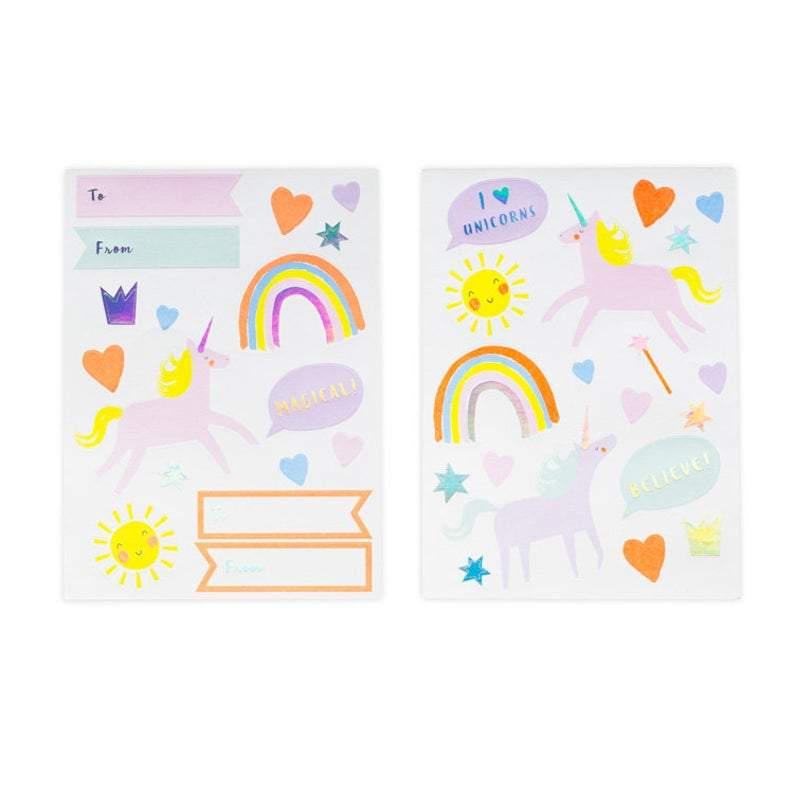 Meri Meri Unicorn Rainbow Stickers