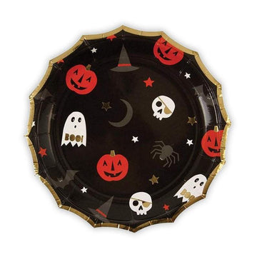 Something Wicked Halloween Pattern Cake Plates