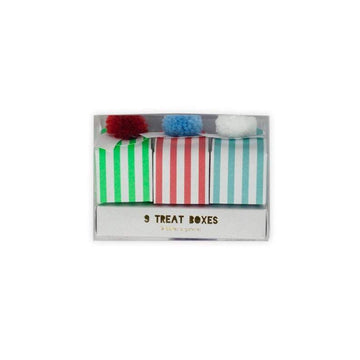 Striped Pom Pom Treat Boxes
