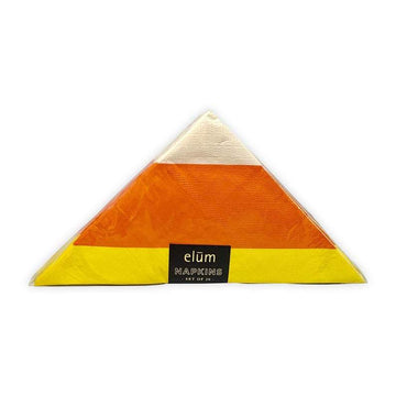 Candy Corn Thanksgiving Halloween Napkins