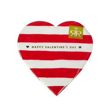 Happy Valentine's Day Striped Heart Napkins