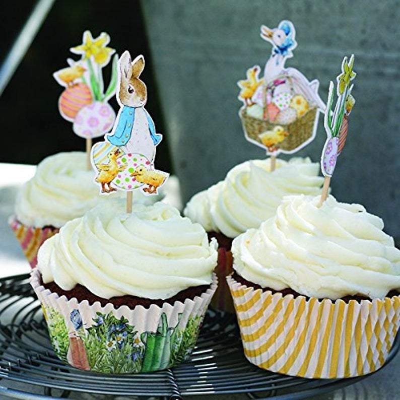 Easter Rabbit Bunny Cupcake Toppers