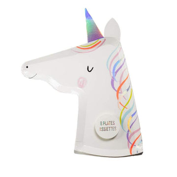 Die Cut Rainbow Unicorn Plates