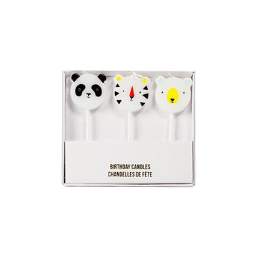 Meri Meri Zoo Animals Birthday Candles (Panda, Tiger, Bear)