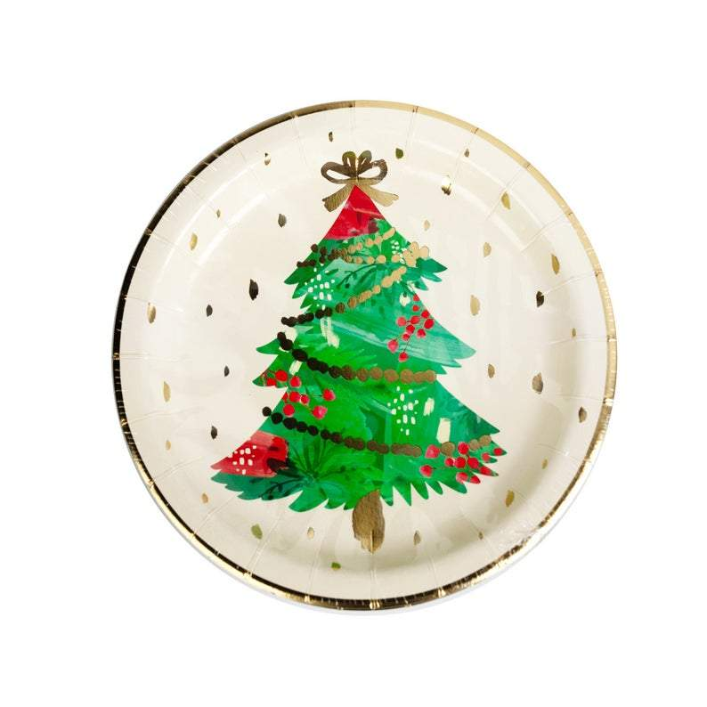 Watercolour Christmas Tree Plates