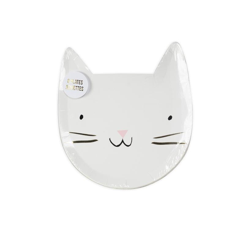 White Cat Die Cut Plate Meri Meri