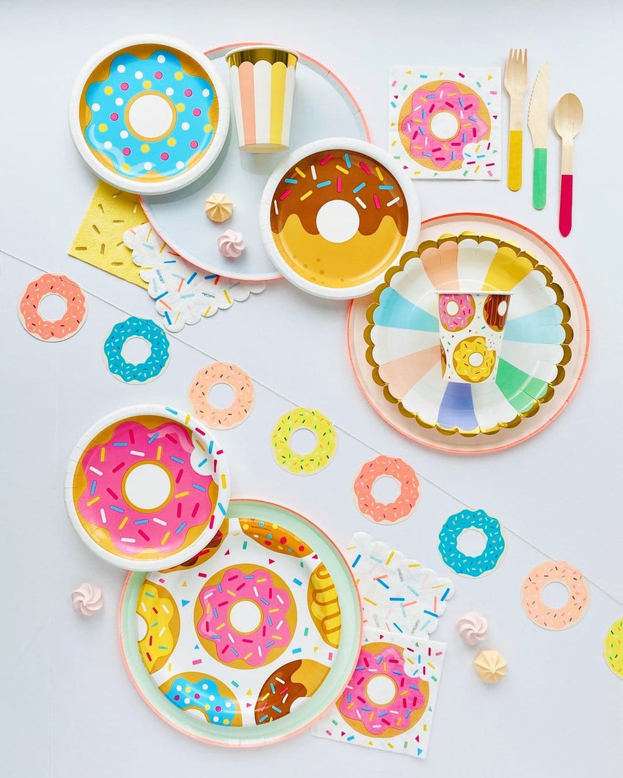 Doughnut Party Table Cover
