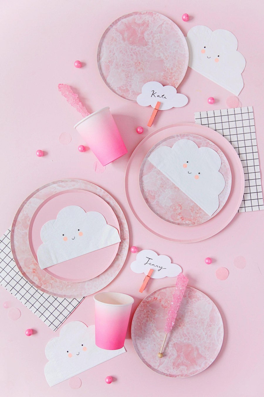 Rose Quartz Plates - Large