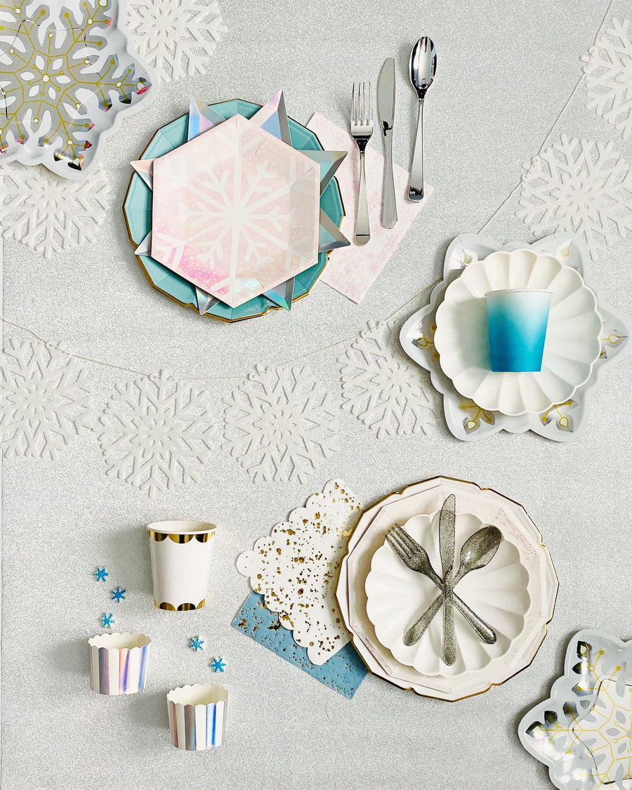 Snowflake Shaped Plates - Large