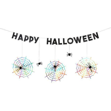 Meri Meri Spiderweb Happy Halloween Garland