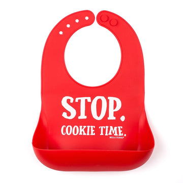 Cookie Time Red Silicone Holiday Bib