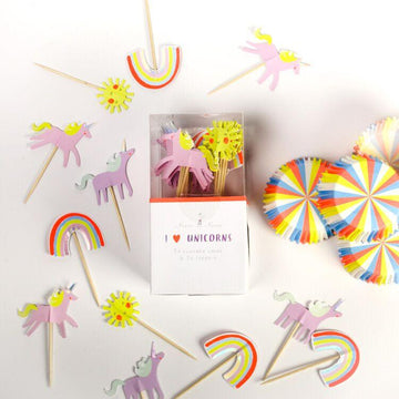 Meri Meri I Heart Unicorns Rainbow Cupcake Kit