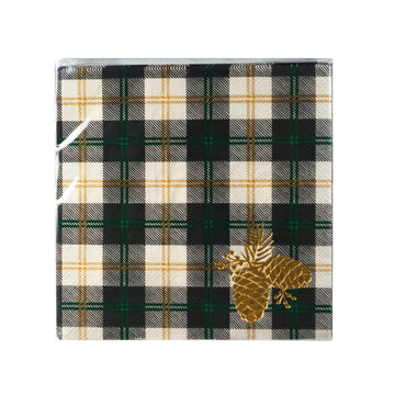 Plaid Pinecone Napkins