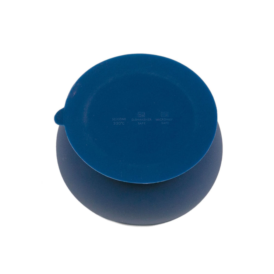 Navy Blue Suction Bowl