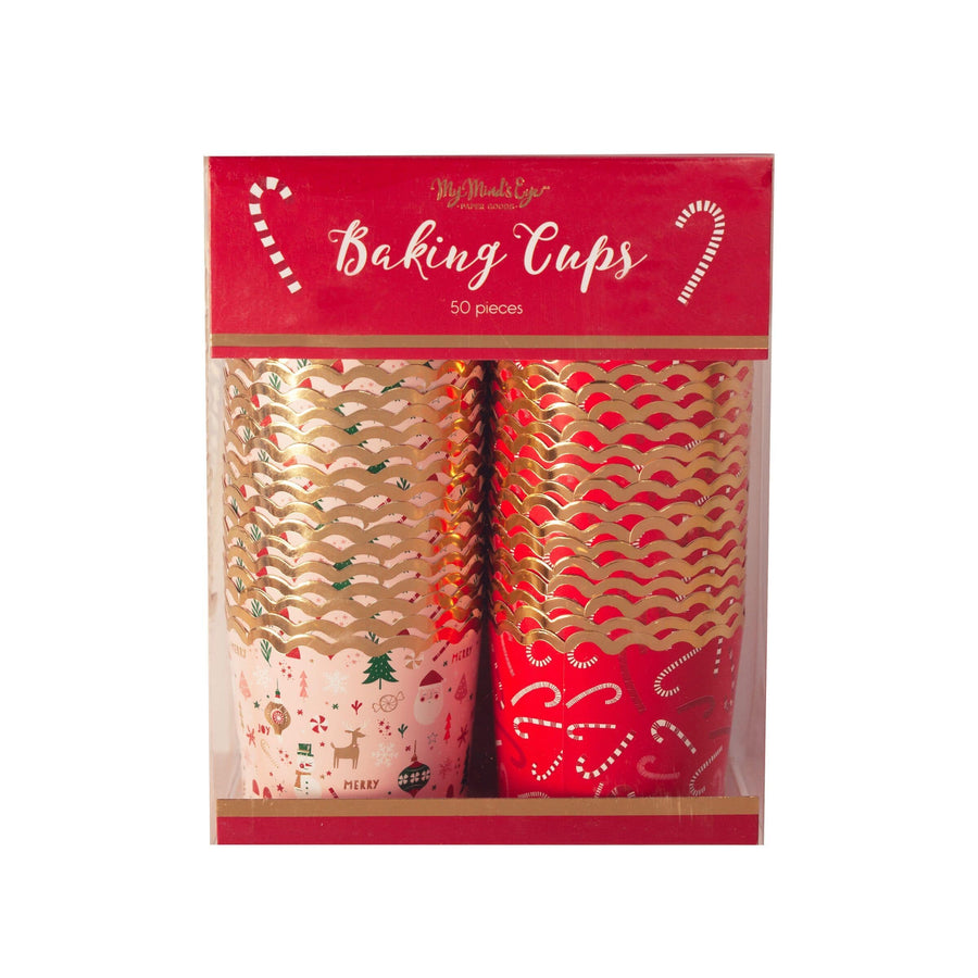Christmas Wonderland and Candy Cane Baking Treat Cups