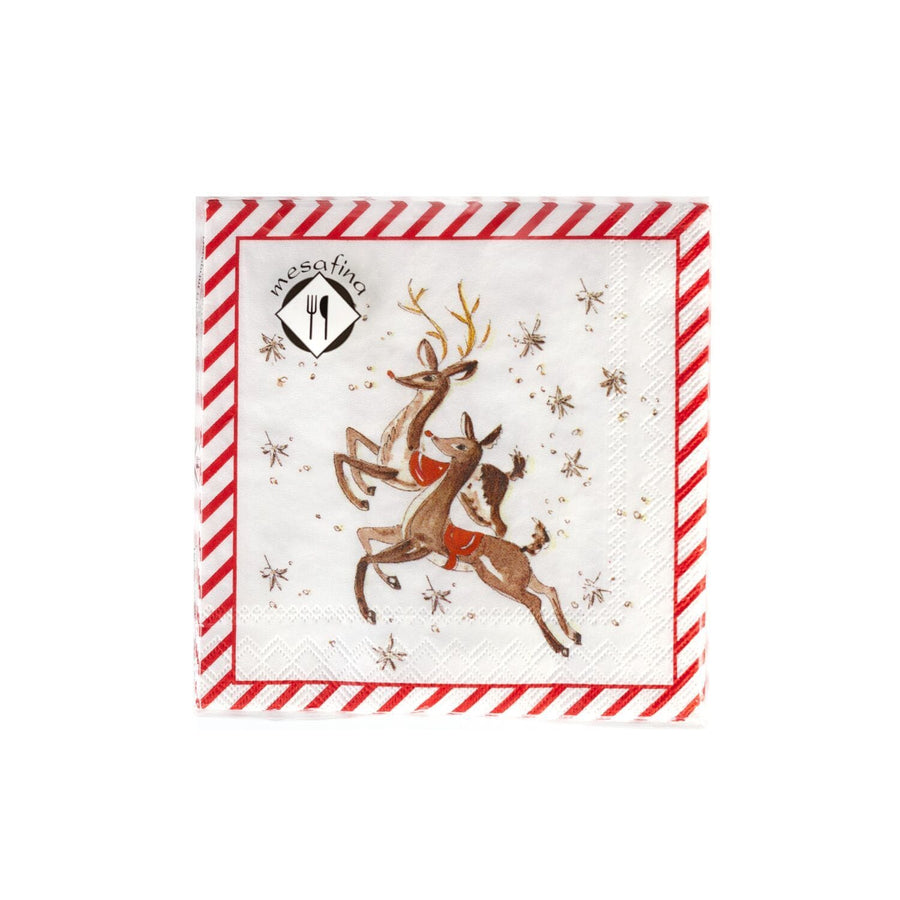 Flying Reindeer Holiday Napkins
