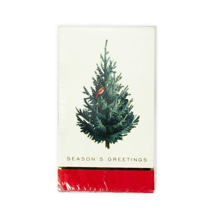 Season's Greetings Christmas Tree Dinner Napkins