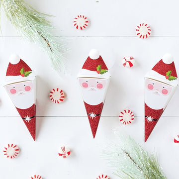 Paperlove Santa Glitter Treat Boxes