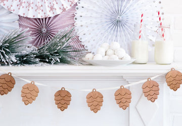 Wooden Pinecone Forest Garland