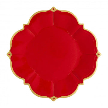 Ruby Red Lunch Plates - Medium