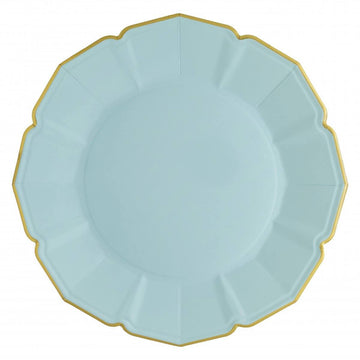 Sky Blue Fancy Paper Party Plates