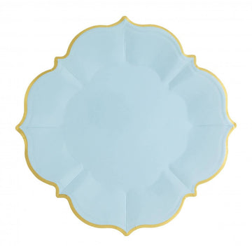 Sky Blue Lunch Plates - Medium