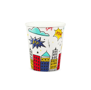 Superhero Comic Cups