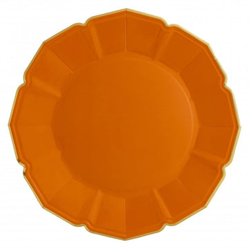 Fancy Orange Paper Plates