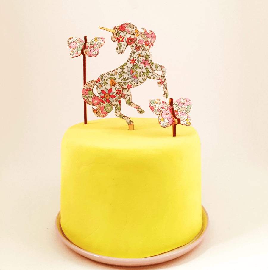 Liberty Unicorn Cake Topper