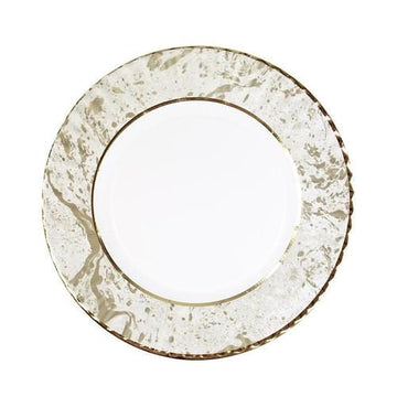 Large Gold Marbled Party Porcelain Plates - Preorder