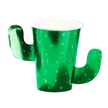 Cactus green foil cups