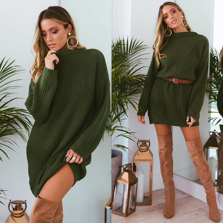 Oxford Knit Dress Green