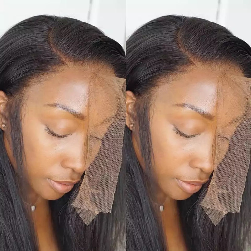 Pre plucked Hairline Brazilian straight human hair
