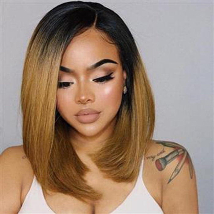 Bob Remy Ombre Blonde Lace Front Human Hair Wigs