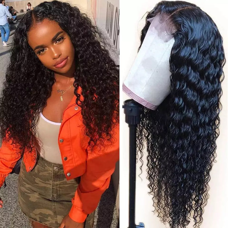 Deep wave Curly Front lace human hair