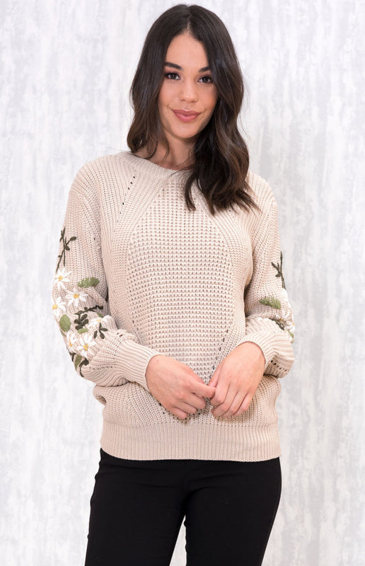 Love to Love Sweater- Beige