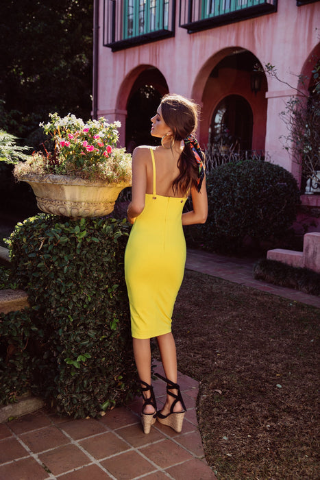 Tammy Dress- Canary Yellow