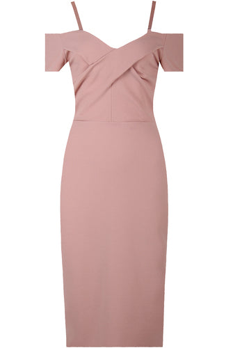 Niki Midi Dress-Blush