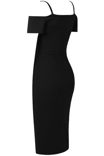 Niki Midi Dress- Black