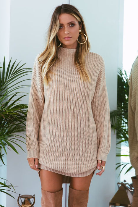 Oxford Knit Dress Sand