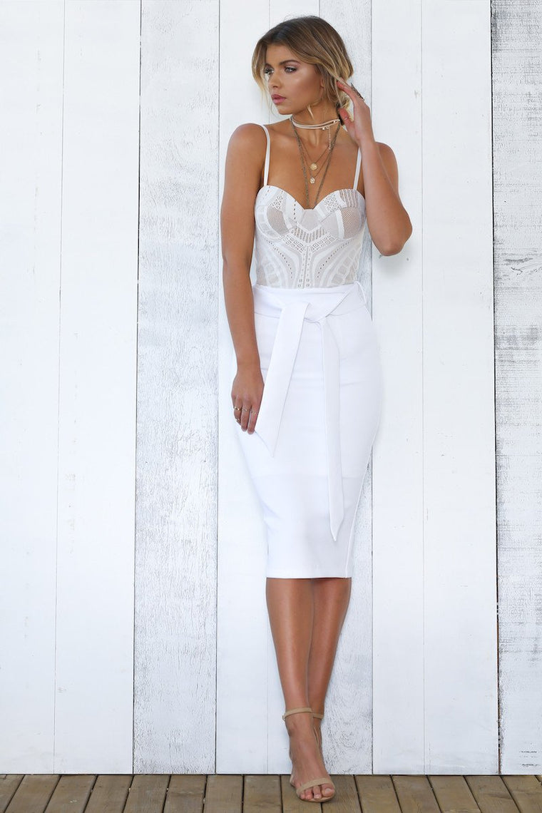 Pia skirt white