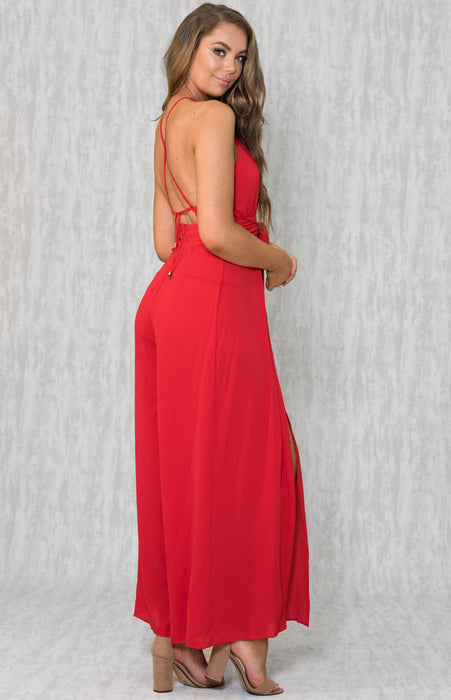 Lilian Jumpsuit- Red