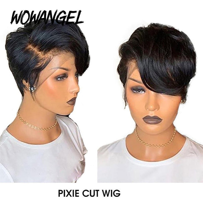Pixie Cut Wig Lace Front Human Hair Wigs
