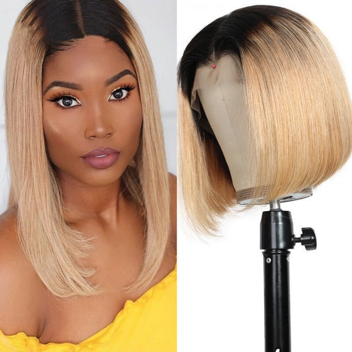 Ombre Wigs Honey Blonde Human Hair Wigs