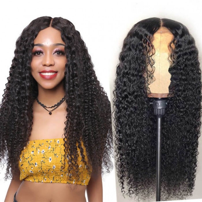 360 lace curly Human Hair wig 150 Density
